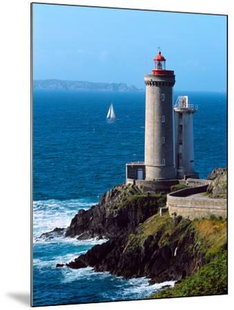 Lighthouse at the Coast, Phare Du Petit Minou, Goulet De Brest, Finistere, Brittany, France--Mounted Photographic Print