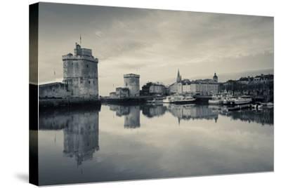 Tour St-Nicholas and Tour De La Chaine Towers at Dawn, Old Port, La Rochelle, Charente-Maritime--Stretched Canvas Print