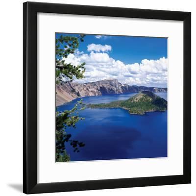 Crater Lake at Crater Lake National Park, Oregon, USA--Framed Photographic Print