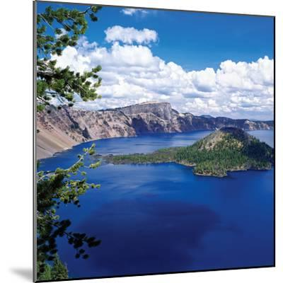 Crater Lake at Crater Lake National Park, Oregon, USA--Mounted Photographic Print