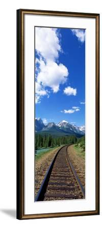 Rail Road Tracks Banff National Park Alberta Canada--Framed Photographic Print