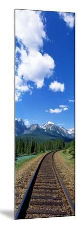 Rail Road Tracks Banff National Park Alberta Canada--Mounted Photographic Print