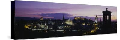 Scotland, Edinburgh Castle--Stretched Canvas Print