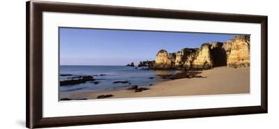 Rock Formations on the Coast, Algarve, Lagos, Portugal--Framed Photographic Print