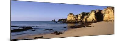 Rock Formations on the Coast, Algarve, Lagos, Portugal--Mounted Photographic Print
