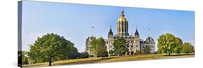 Facade of a Government Building, Connecticut State Capitol, Capitol Avenue, Bushnell Park--Stretched Canvas Print