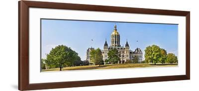 Facade of a Government Building, Connecticut State Capitol, Capitol Avenue, Bushnell Park--Framed Photographic Print