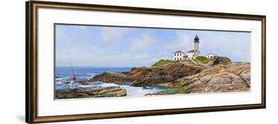 Lighthouse on the Coast, Beavertail Lighthouse, Narragansett Bay, Jamestown Island--Framed Photographic Print