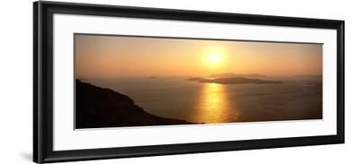 Santorini from Athinios, Greece--Framed Photographic Print
