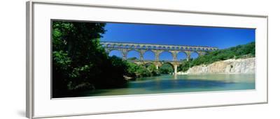 Pont Du Gard Roman Aqueduct Provence France--Framed Photographic Print