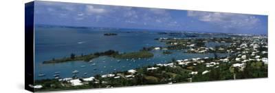 Buildings Along a Coastline, Bermuda--Stretched Canvas Print