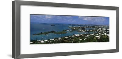 Buildings Along a Coastline, Bermuda--Framed Photographic Print