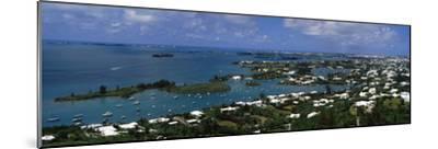 Buildings Along a Coastline, Bermuda--Mounted Photographic Print
