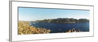 Mediterranean Sea Viewed from the Byzantine Castle, Kekova, Lycia, Antalya Province, Turkey--Framed Photographic Print