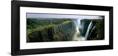 Looking Down the Victoria Falls Gorge from the Zambian Side, Zambia--Framed Photographic Print