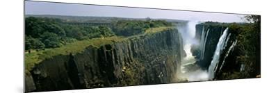 Looking Down the Victoria Falls Gorge from the Zambian Side, Zambia--Mounted Photographic Print