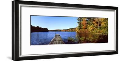 Fall Colors Along a New England Lake, Goshen, Hampshire County, Massachusetts, USA--Framed Photographic Print