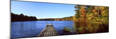 Fall Colors Along a New England Lake, Goshen, Hampshire County, Massachusetts, USA--Mounted Photographic Print