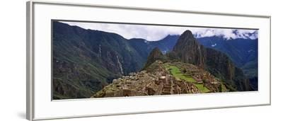 Ruins of Buildings at an Archaeological Site, Inca Ruins, Machu Picchu, Cusco Region, Peru--Framed Photographic Print