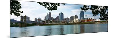 City at the Waterfront, Ohio River, Cincinnati, Hamilton County, Ohio, USA--Mounted Photographic Print