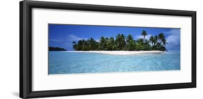 Tapuaetai Motu from the Lagoon, Aitutaki, Cook Islands--Framed Photographic Print