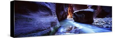 Virgin River at Zion National Park, Utah, USA--Stretched Canvas Print