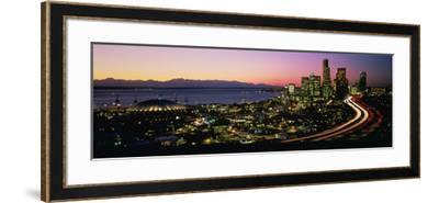 Sunset Skyline Seattle Wa USA--Framed Photographic Print