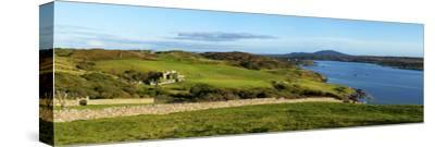 Castle on a Hill, Clifden Castle, Clifden, Connemara, County Galway, Republic of Ireland--Stretched Canvas Print