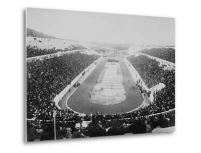 1896 Olympic Games in Athens--Metal Print