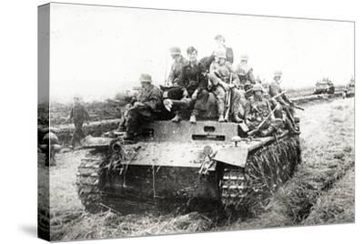 A German Panzer Pz Kpwiii Ausfe Tank--Stretched Canvas Print
