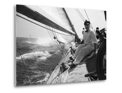 Sailing on Lake Michigan--Metal Print
