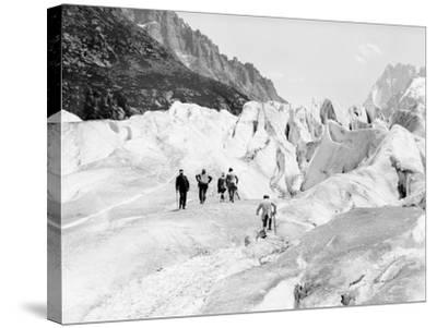 Glacier on Mount Blanc--Stretched Canvas Print