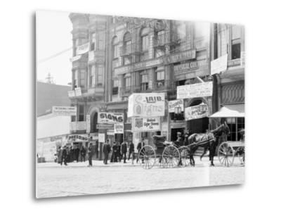 Businesses on Fillmore Street--Metal Print