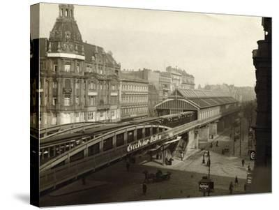Danziger Street Railway Station--Stretched Canvas Print