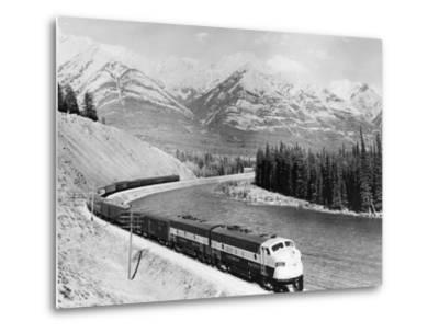 View of Moving Train--Metal Print