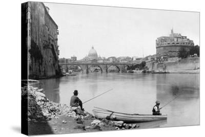 View of Rome and the Tiber (1900)--Stretched Canvas Print