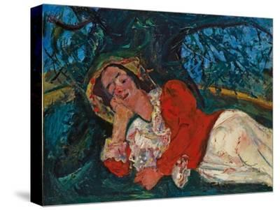 The Venetian Woman, C. 1926-Chaim Soutine-Stretched Canvas Print