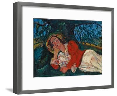 The Venetian Woman, C. 1926-Chaim Soutine-Framed Giclee Print
