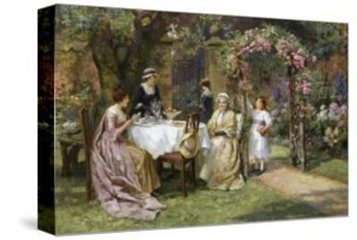 The Tea Party-George Sheridan Knowles-Stretched Canvas Print