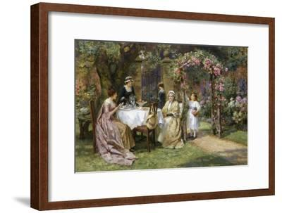 The Tea Party-George Sheridan Knowles-Framed Giclee Print