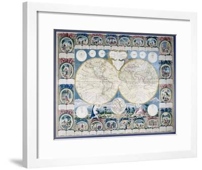 General Map of the Earth-Abbe Clouet-Framed Giclee Print
