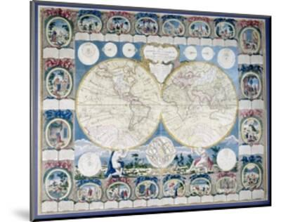 General Map of the Earth-Abbe Clouet-Mounted Giclee Print