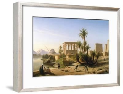 Catching the Crocodile-Jean Francois Portaels-Framed Giclee Print