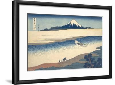 Bushu Tamagawa (The Tama River in Musashi Province)-Katsushika Hokusai-Framed Giclee Print