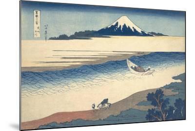 Bushu Tamagawa (The Tama River in Musashi Province)-Katsushika Hokusai-Mounted Giclee Print