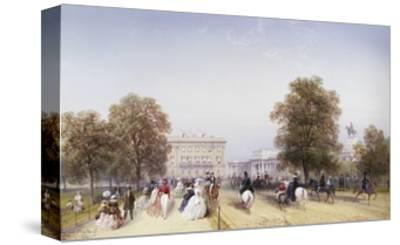 High Society, Rotten Row, Hyde Park-Carlo Bossoli-Stretched Canvas Print