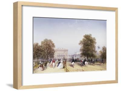 High Society, Rotten Row, Hyde Park-Carlo Bossoli-Framed Giclee Print
