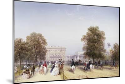 High Society, Rotten Row, Hyde Park-Carlo Bossoli-Mounted Giclee Print