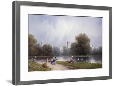 Westminster from St. James's Park-Carlo Bossoli-Framed Giclee Print