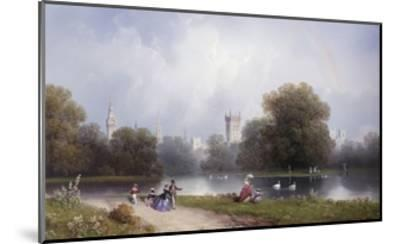Westminster from St. James's Park-Carlo Bossoli-Mounted Giclee Print